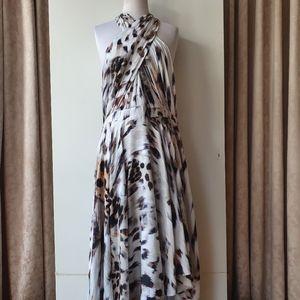 Portmans Grey/Beige Animal Print Dress Size 16